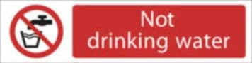 DRAPER 'Not Drinking Water' Prohibition Sign